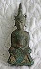 17th century cast small Southeast Asian Buddha