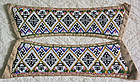 Chinese matching pair of beaded fabric strips