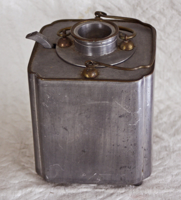 Antique Chinese pewter wine warmer