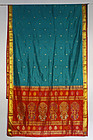 Vintage Silk Varanasi Indian Wedding Sari