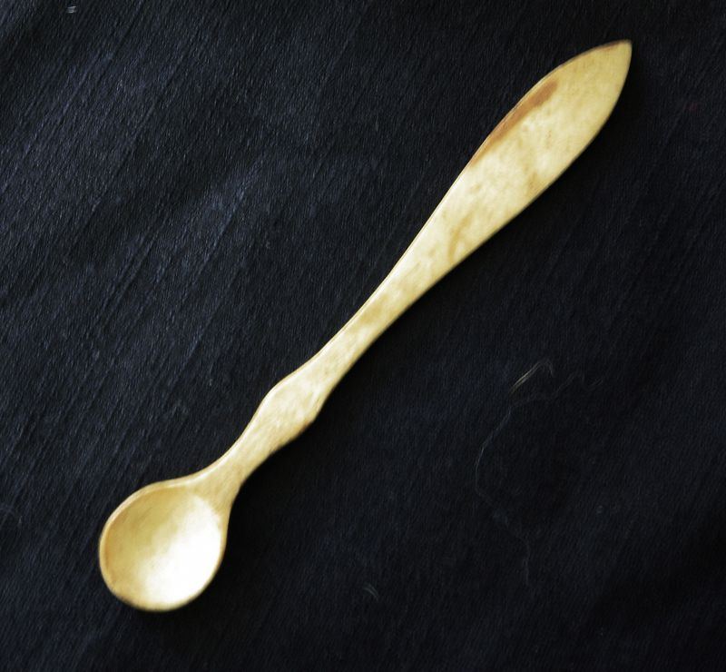 Antique Chinese Apothecary Spoon carved from bone