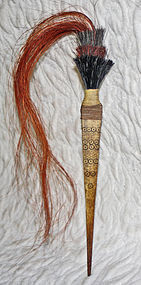 Naga long bone hair pin with stand