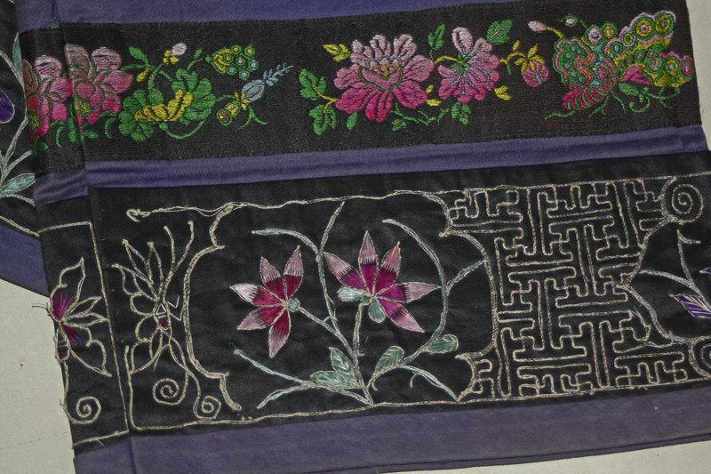 Rare Antique Pair Chinese leggings worn with Lotus shoe