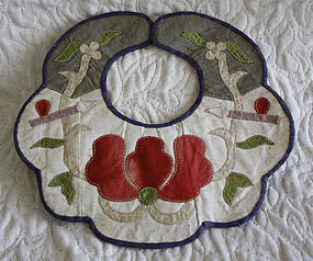 Antique Chinese Appliqued Childs collar
