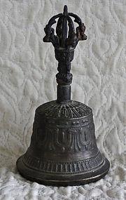 Antique Tibetan Buddhist ritual bell Ghanta