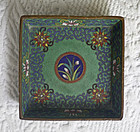 Small Chinese cloisonne square tray