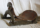 Indo Persian antique military horse saddle