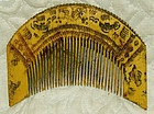 Chinese ethnic minority Miao hand carved  wooden comb