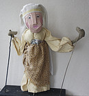 antique French Guignol hand puppet of matron