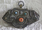 Antique Tibetan leather coin pouch