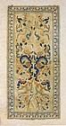 Antique Chinese silk embroidered sleeve panels bordered with trim