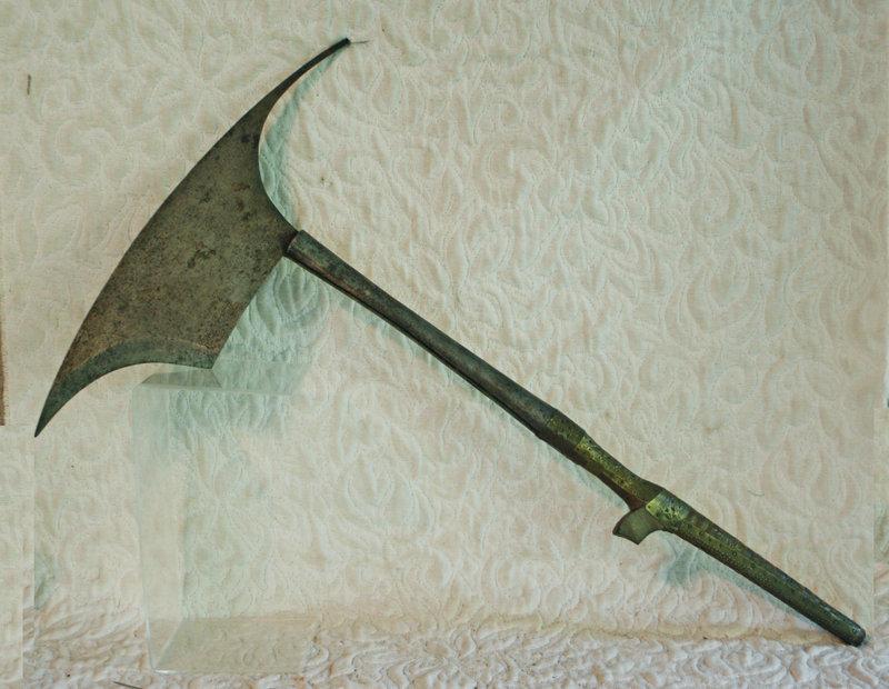 antique Philippines Kalinga Head Hunters Axe