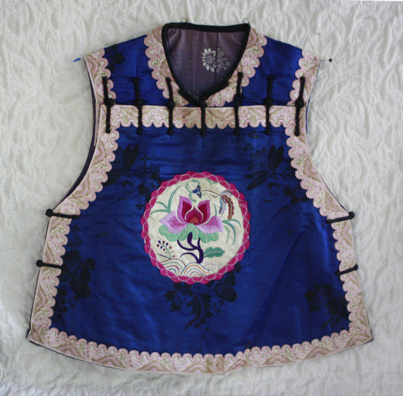 Traditional Chinese Child's silk top vest