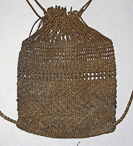 Antique Japanese fisherman's knapsack, backpack