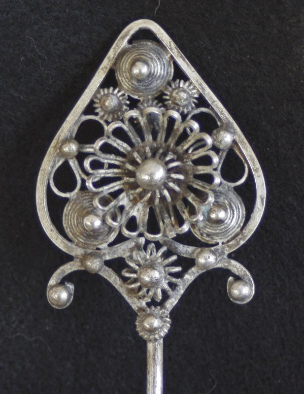 Antique Chinese Miao Ethnic Minority Silver Hair Pin