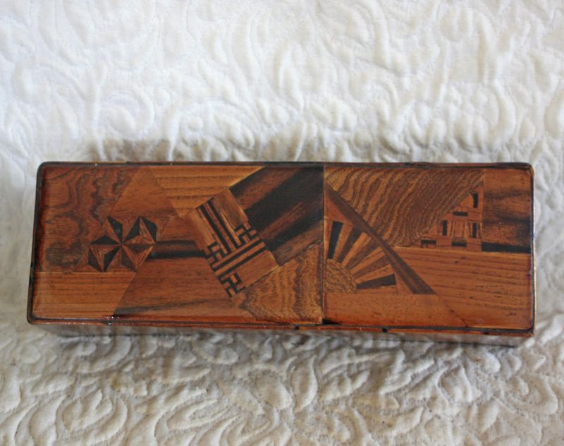 Antique Japanese Marquetry box