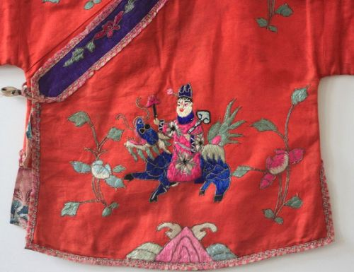 Qing Dynasty silk embroidered top/robe