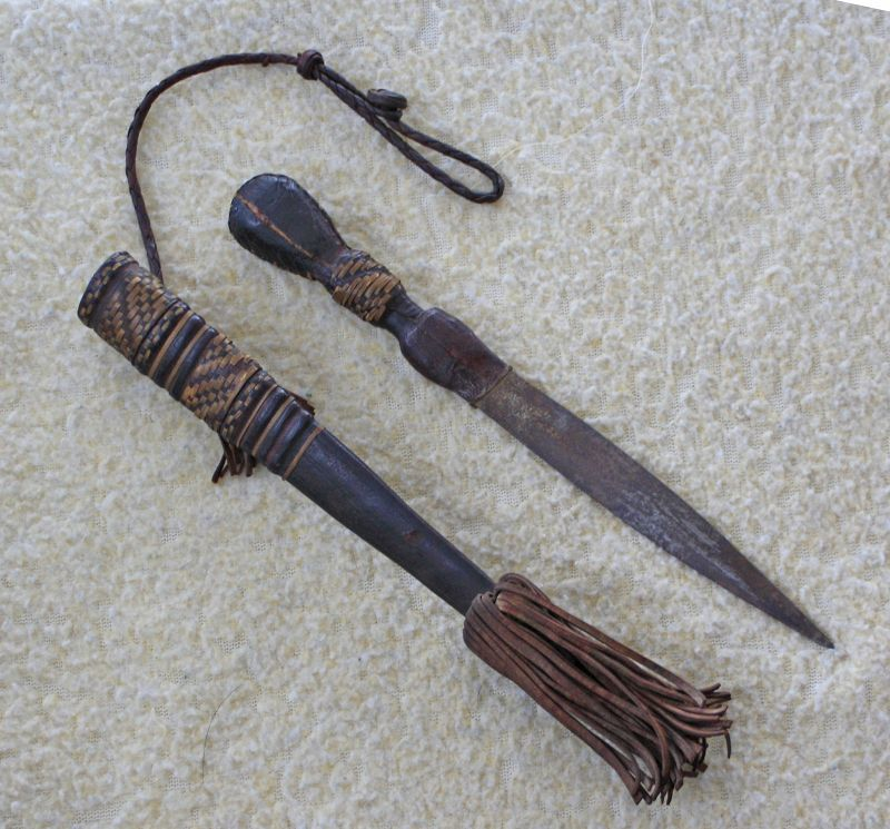 West African Sudan Manding Dagger with Leather Scabbard Active Photos
