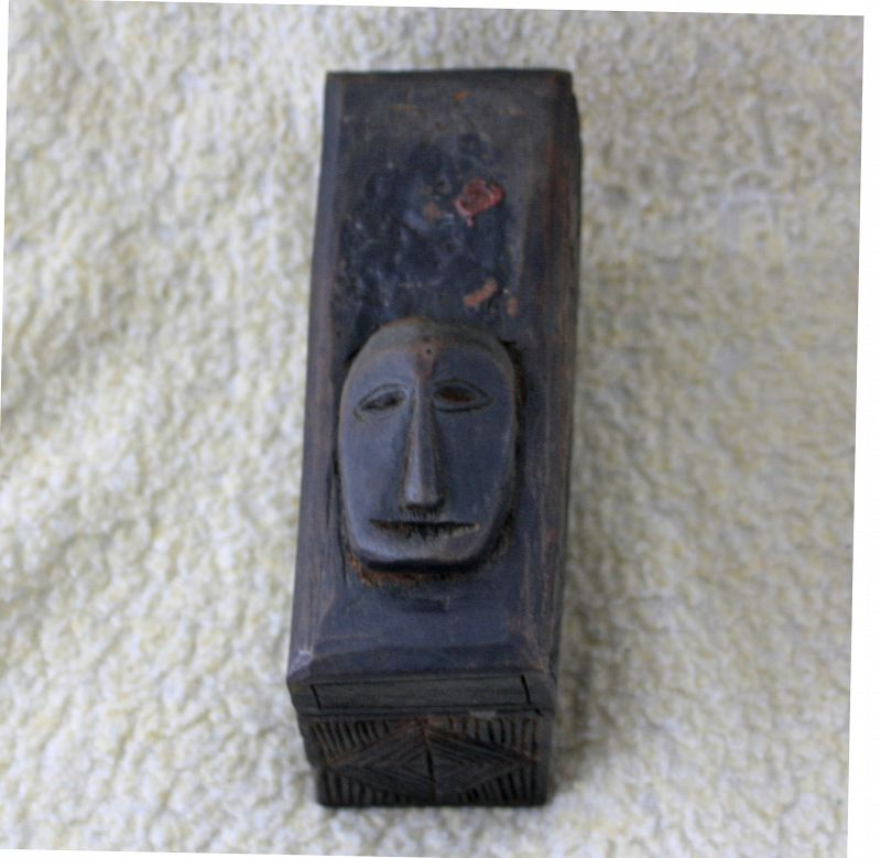 Antique Tibetan wood Cremation box