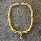 Antique Tibetan bone prayer beads with amber and coral