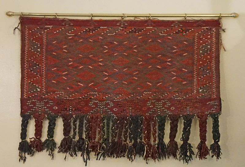 Antique Pair of Matching Yomud tribal Tent bags