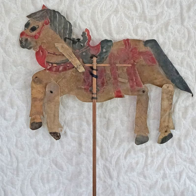 Antique Chinese Shadow Puppet Qing Dynasty 1800's