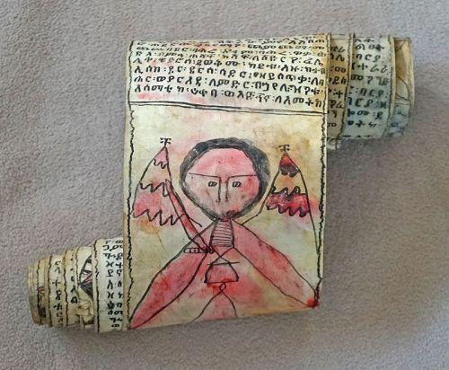 Antique Ethiopian Coptic scroll