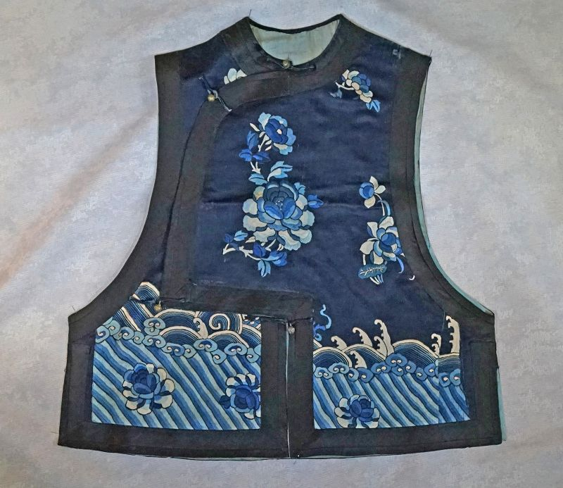 Antique Chinese Qing Dynasty Embroidered Vest