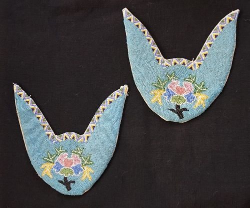 Antique Chinese Beaded shoe parts