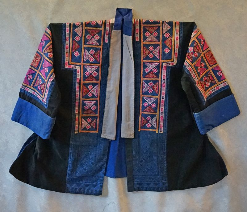 Antique Chinese Miao Ethnic Minority embroidered Festival Jacket