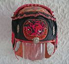 Antique Chinese Yi ethnic minority embroidered child's hat