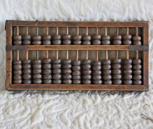 Antique Chinese wooden abacus