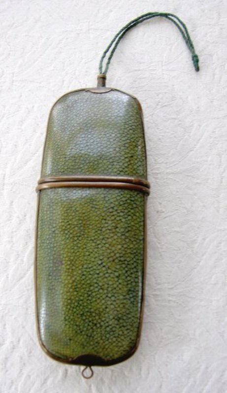 Antique Chinese Shagreen eyeglasses case