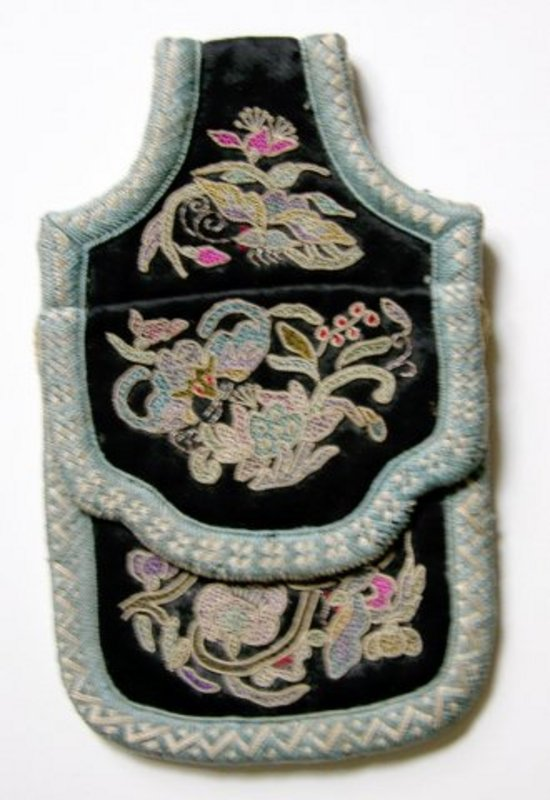 Chinese Ethnic Minority Miao small embroidered purse