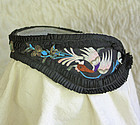 Chinese womans silk embroidered headband Kingfisher