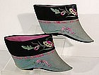 Qing Dy Northern Style Pair of Lotus Shoes