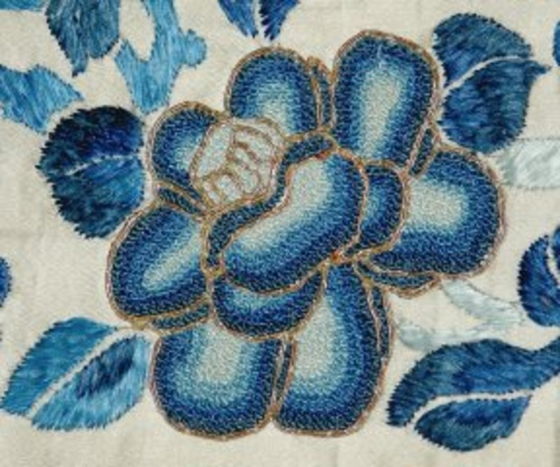 Chinese silk embroidery single sleeve band