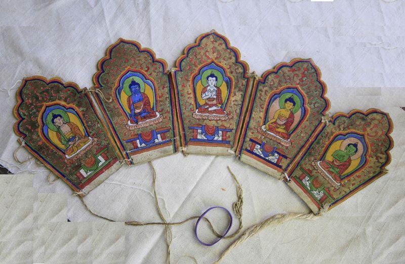 Antique Tibetan Diadem Buddhist Ritual Crown aka Ringga