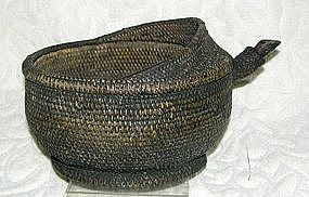 Antique Chinese Minority Wine Tea Pourer woven basket