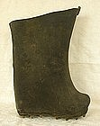 Old Chinese Leather Rice Paddy Work Boot