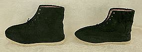 old pair of Chinese handmade man's boots