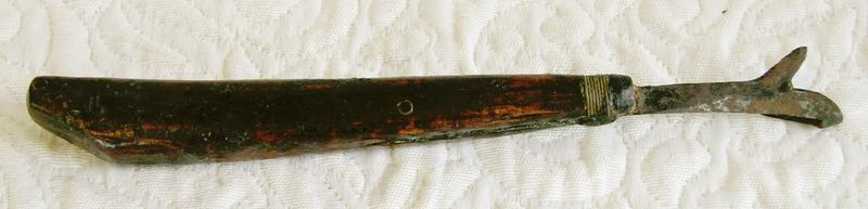 Antique Edo Period Japanese Lacquer tree cutting tool