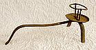 Japanese Edo Period Teshoku Iron Candle Holder
