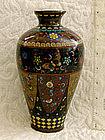 Early Meiji Goldstone Japanese panel Cloisonne Vase