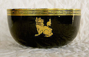 Set of 5 Thailand Lacquer Bowls with gold rim Balu-gwin