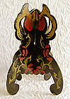 Rare Antique Chinese painted Lacquer Hat Stand