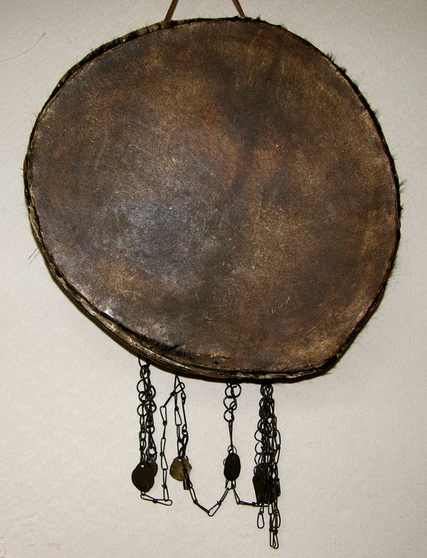 Large Antique Festival Parade Drum from Nepal