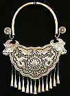 Large Chinese Ethnic Minority Festival Silver Necklace