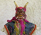 Antique Chinese Mongolian Demon Hand Puppet Doll