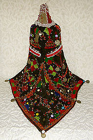 Pashtun Woman Headdress beaded embroidered India